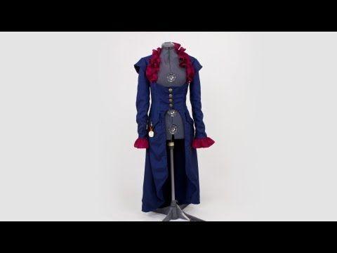 simplicity pattern 2172 steampunk coat tutorial video