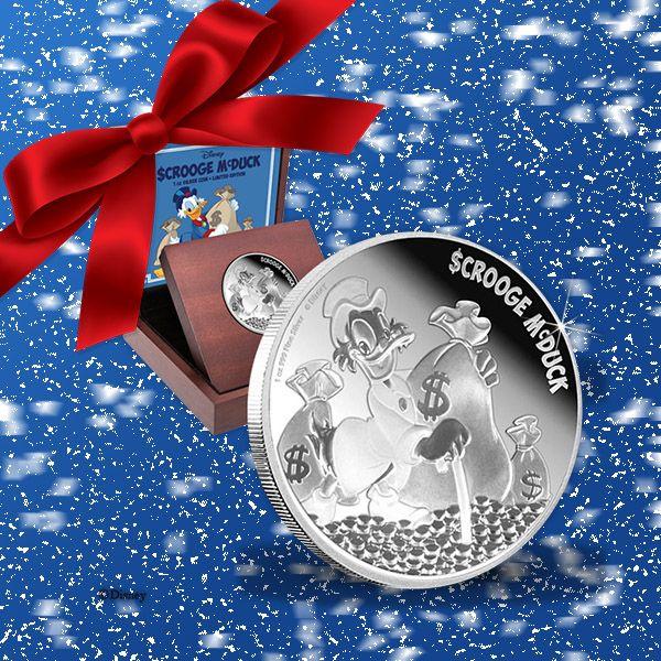 Världens rikaste anka, Joakim von anka, i 99,9 % silver