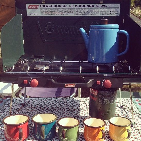 Who says you have to rough it? Coffee on a camp stove #camping - More camping stuff at http://outdoorgearhead.com