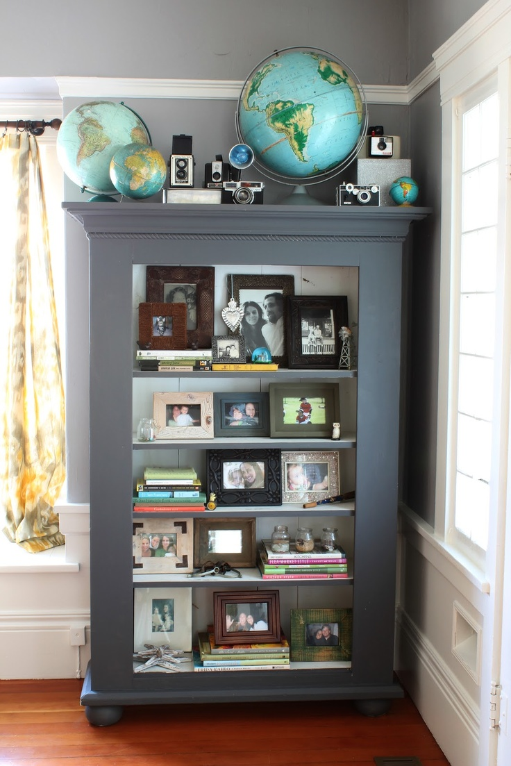 Co colour coordinated bookshelf - Beautifully Styled Bookcase