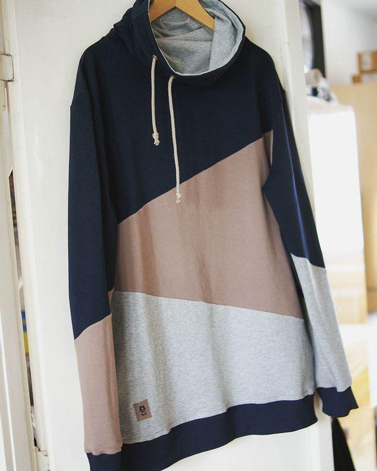 Triple color hoodie for MEN.   #sweater #hoodie #triplecolor #cottonfabric #stretchfabric #sporty #coolstuff #handmade #madebyme #kovacsdora #menswear