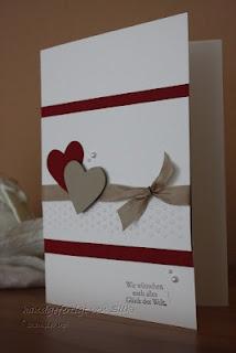 Silke's bunte Stempelkiste: Hochzeitskarte... und ein Layout