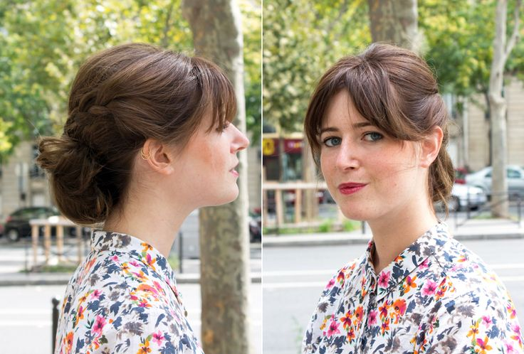 Demi-tresses chignon | The reporthairDécouvrez comment réaliser cette coiffure ici : http://thereporthair.fr/tresse-en-chignon/