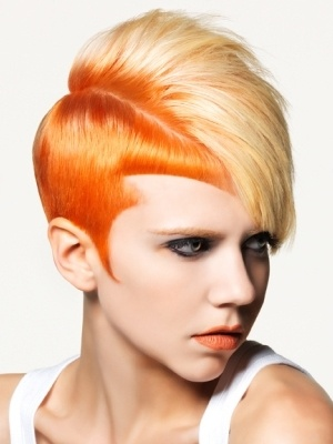 Ok, this is not my style but I am intrigued not only by the hair cut but by the color.