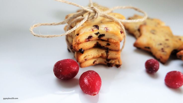 Dried Cranberry Butter Cookies