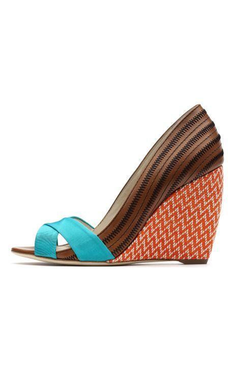 "Fantastic wedge heels, from Rupert Sanderson's ""Caribbean meets Kenya"" Resort 2012 collection: Fashion, Kibo Wedge, Style, Wedge Heels, Wedges Shoegameproper, Shoes Sandals, Rupert Sanderson, Summer Wedges, Shoes Shoes"
