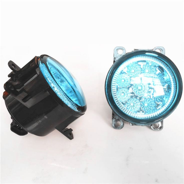 25.49$  Watch now - Car Styling Led Fog Lights Lamps For Mitsubishi TRITON ML DRL  2007-2009 Modified Crystal Blue Blue 12V  #buyininternet