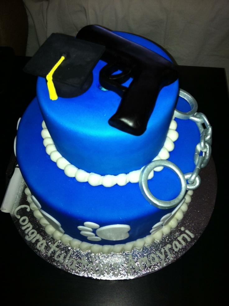 police academy graduation cakes