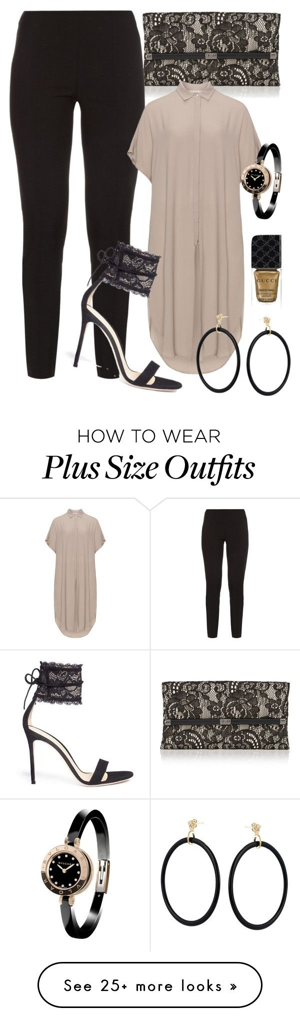 """Bit Lacey"" by perichaze on Polyvore featuring Diane Von Furstenberg, The Row, Mat, Gianvito Rossi, Versace, Bulgari and Gucci"