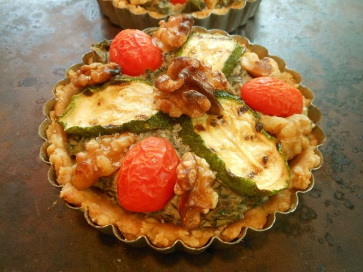 Vegan Savory Summer Tarts with Swiss Chard, Zucchini, Cherry Tomatoes ...