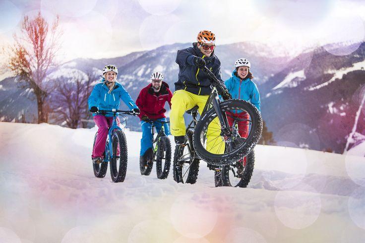 Mit dem Sportfatbike die Berge im Winter erklimmen - DIE BERGQUELLE *** © www.bergquelle-flachau.at