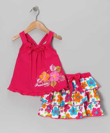 Take a look at this Fuchsia Princess Tank & Ruffle Skirt - Infant, Toddler & Girls by Littoe Potatoes on #zulily today!