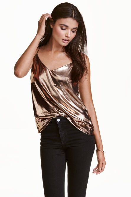 Metallic Strappy Top from H&M R149,00