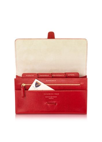 Aspinal of London- Travel Wallet RED!