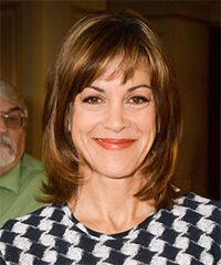 View and try on this Wendie Malick Medium Straight Casual  hairstyle - Medium Brunette (Copper).