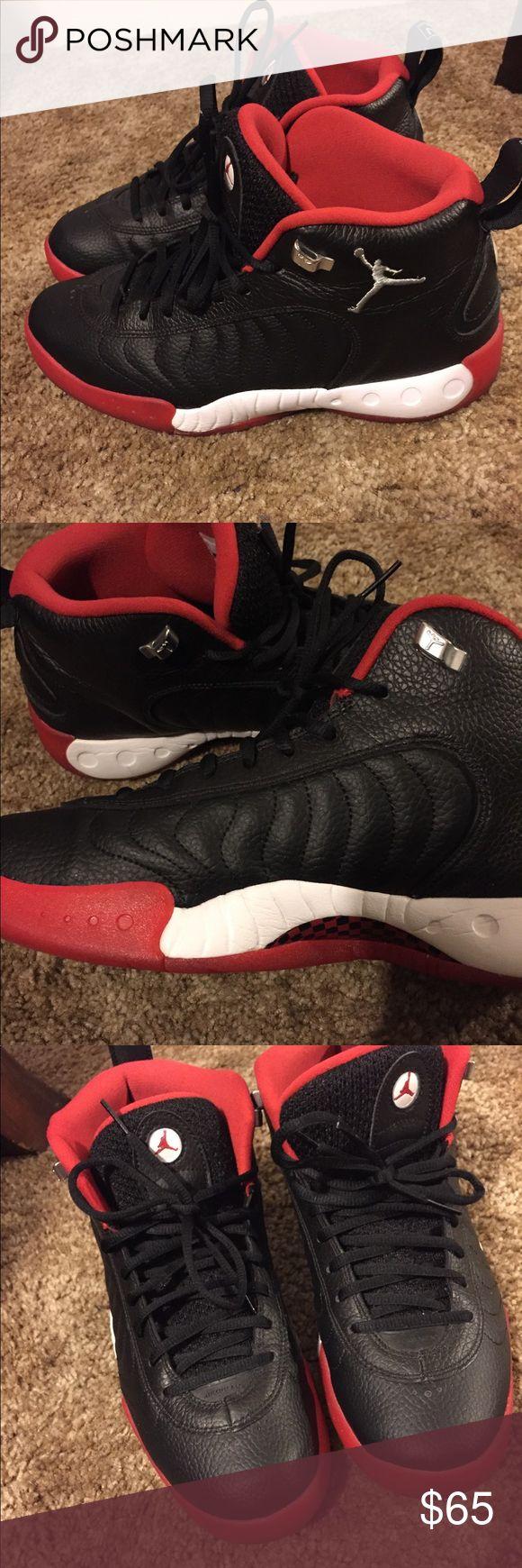 Jordan Jumpman Pro - Men's Black/Varsity Red/White Jordan Shoes Athletic Shoes