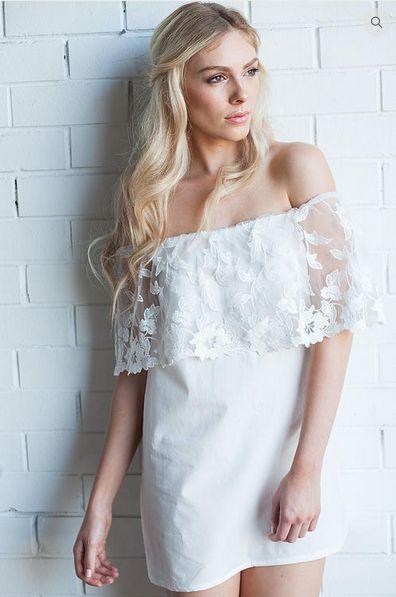 'Dreamer' off the shoulder dress