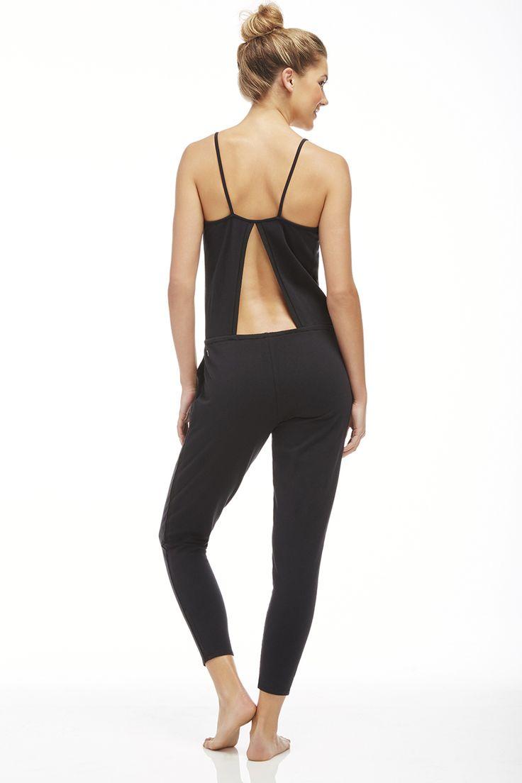 Model Adriana Arango Women39s Workout Jumpsuit Stretch Fit Gym One Piece