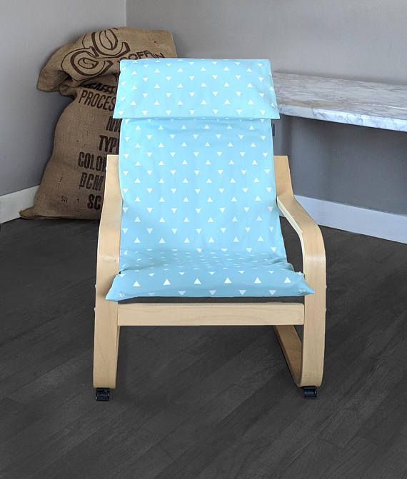Kids Poang Triangle Cushion Seat Cover Baby Blue Cushions Seat
