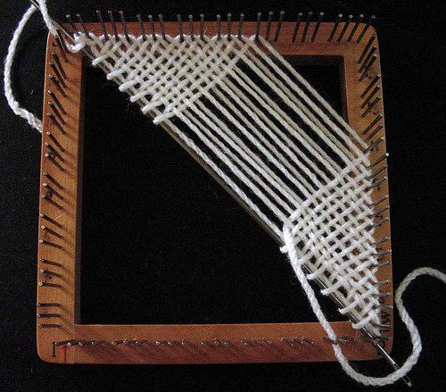 Weaving a Bias Triangle on a Regular Weavette Loom