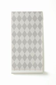 Behang Harlekijn grijs