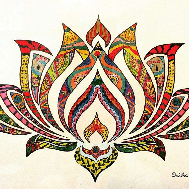 Lotus. Create with color paper cuts