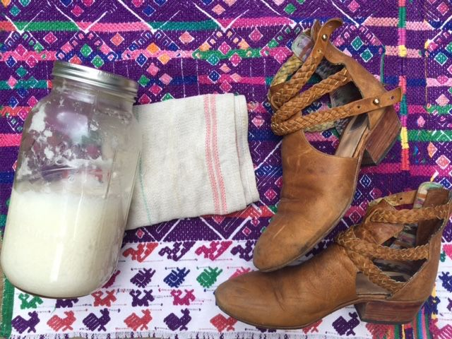 Leather boot and shoe care using coconut oil