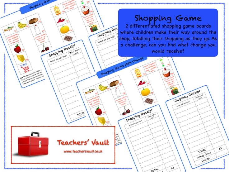 Shopping Game - KS1, KS2 Maths Measurement Money Teaching Resources, Activities and Games