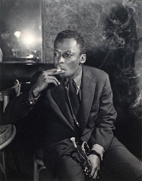 brentlavett:  Miles Davis, Salle Pleyel, Paris, 1946, Jean-Pierre Leloir. (1931 - 2010)