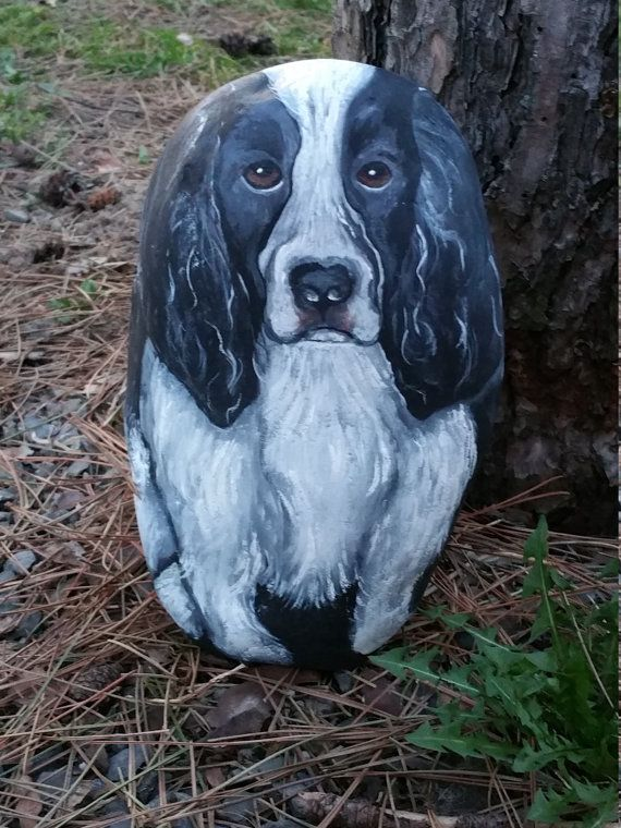 Customized and Personalized Pet Portrait as a Memorial or an Interesting and Unique Gift for Pet Lovers on 3D River Rock