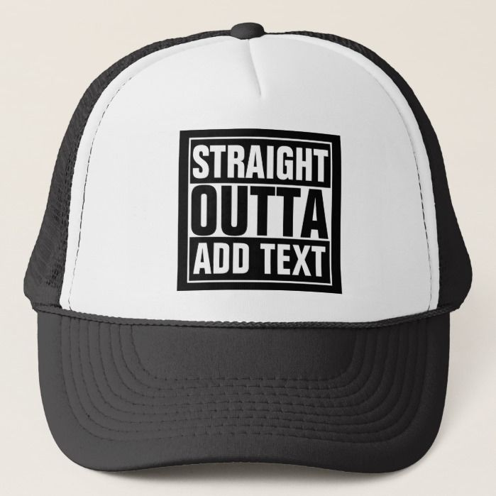 Custom Personalized Straight Outta Your Text Baseball Hat Ball Cap