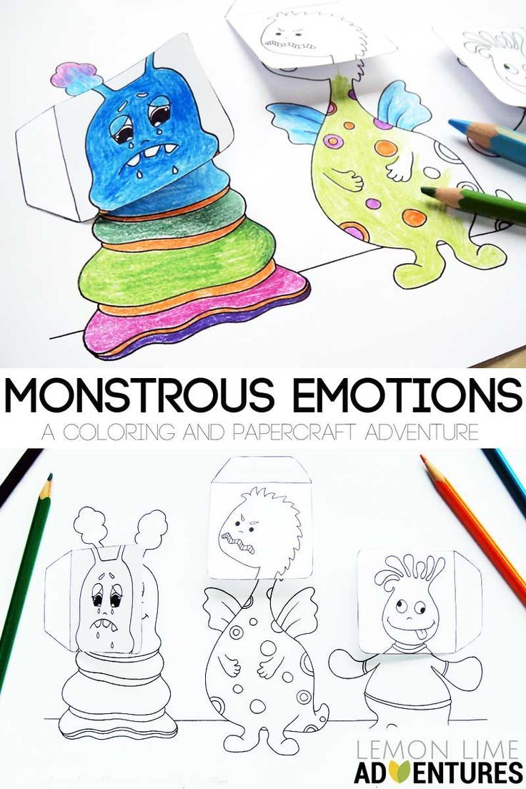 Coloring pages emotions printable