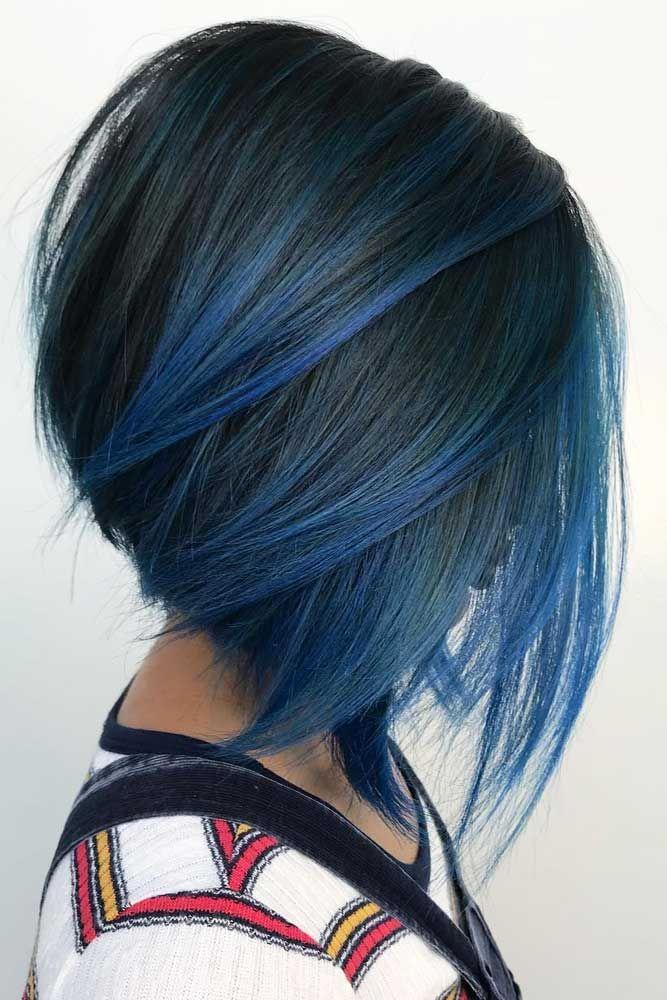 195 Fantastic Bob Haircut Ideas Lovehairstyles Com Hair Styles Stacked Bob Haircut Blue Ombre Hair