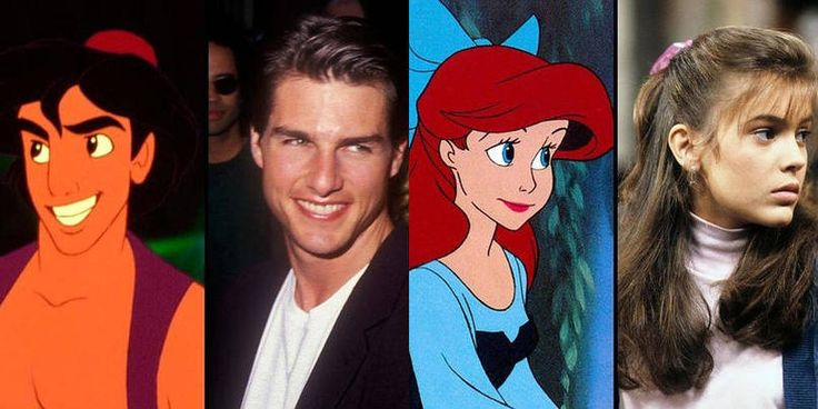Aladdin was modeled after Tom Cruise and Ariel was modeled after Alyssa Milano.