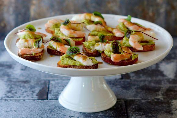 Prawn & Avocado Toasts - Maggie Beer