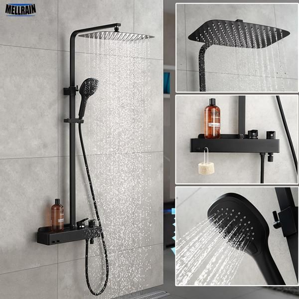 2 Functions Overhead Rainfall Shower And Handheld Spray Shower