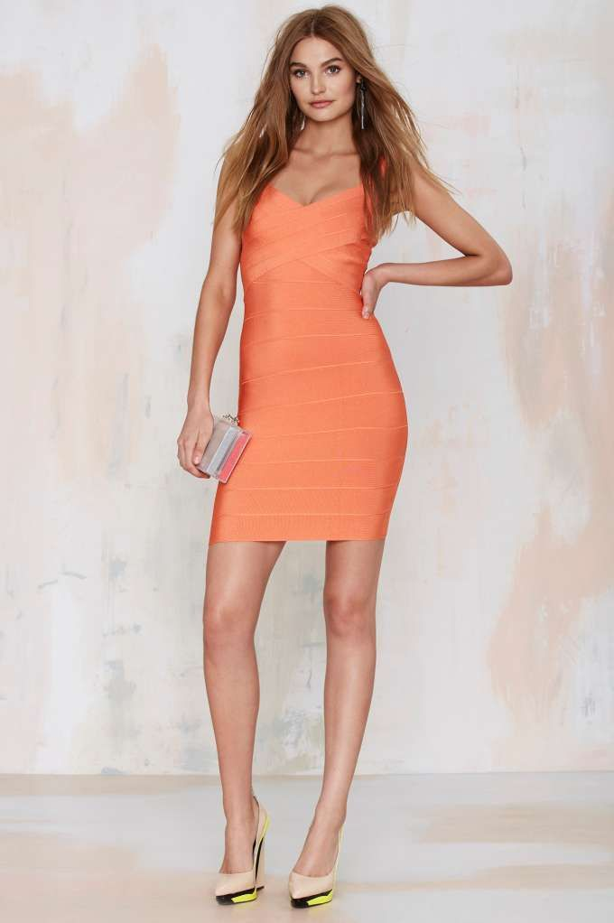 Nasty Gal With the Bandage Dress - Orange - Going Out | Body-Con | Dresses