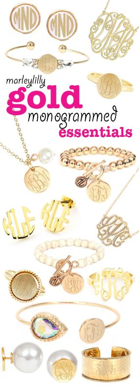 A monogram for every day of the week! Preview your monogram on everything seen here at Marleylilly.com #Preppy