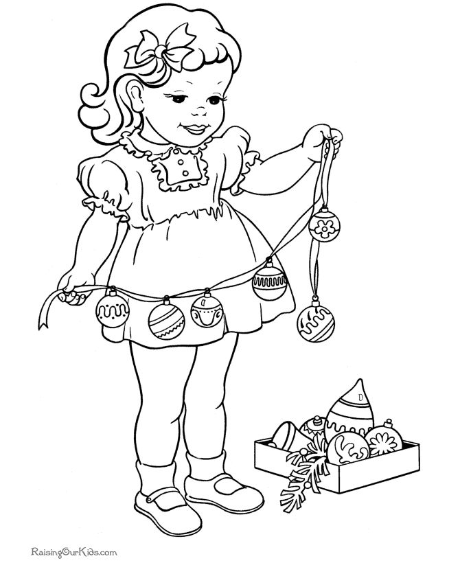195 best Coloring Pages- Retro images on Pinterest Print coloring - new christmas tree xmas coloring pages