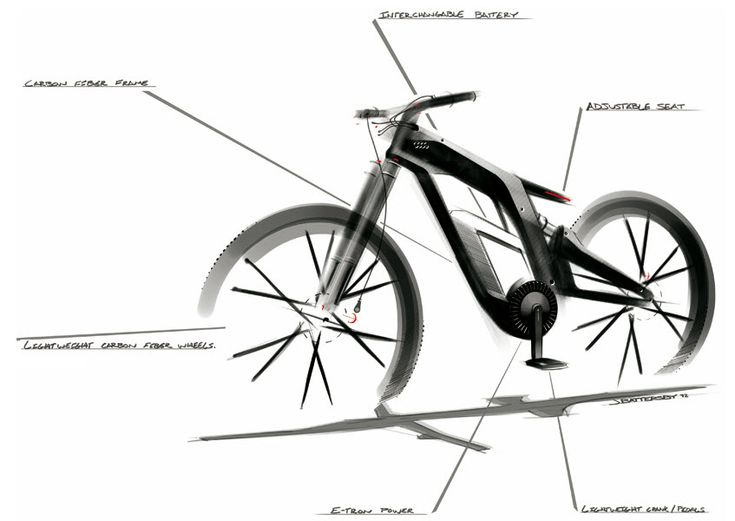 Audi New E Bike Worthersee Concept 4 Transport Pinterest