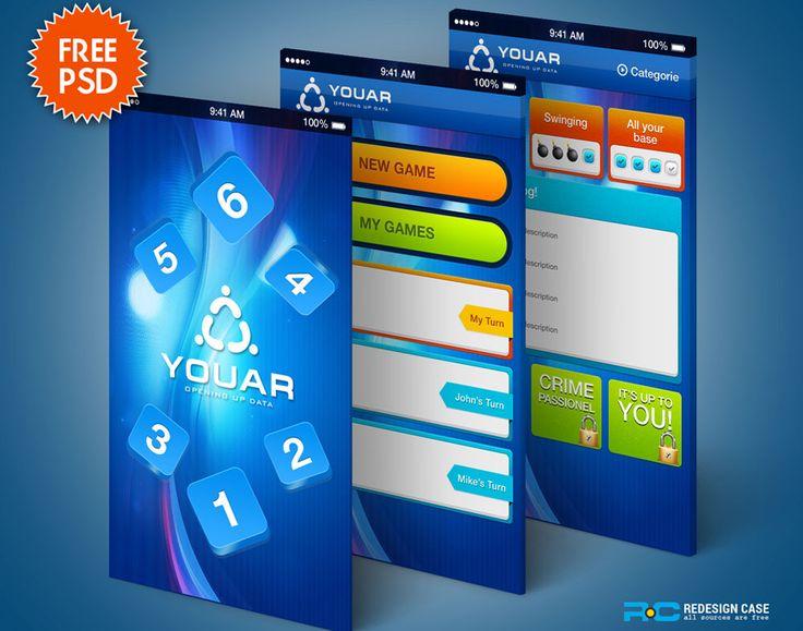 Mobile Game GUI Kit PSD