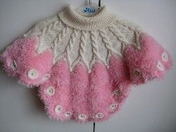 Crocheted ponchos for girls