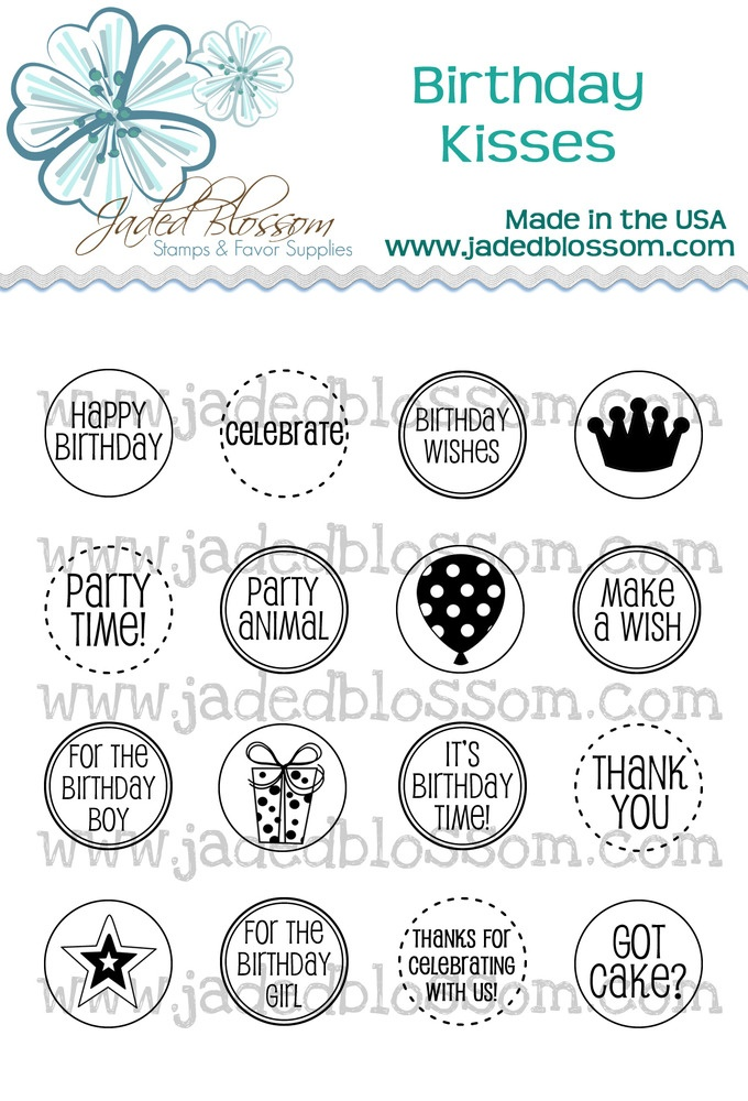 New Stamps from Jaded Blossom! These fit PERFECTLY on the bottom of hershey kisses. Just use a 3/4 inch circle punch to punch them out!: Wwwjadedblossomcom, Kiss 4X4, Hershey Kiss, Jade Blossoms, Inch Circles, Circles Punch, Blossoms Stamps, Www Jadedblossom Com, Fit Perfect