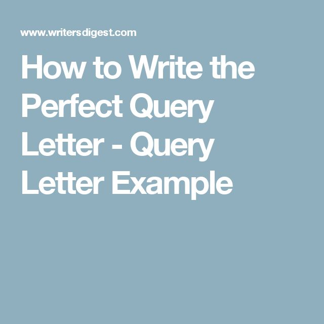 Best Manuscripts  Query Letters Images On