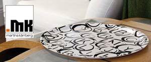 Martina Kärrberg är mönsterdesigner och konstnär verksam i Lidköping. Hennes senaste kollektion Retro Media är svensktillverkad och består av brickor, skärbrädor, glasunderlägg, grytunderlägg, kökshanddukar och kuddfodral.