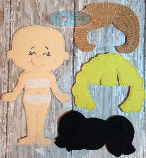 "Large Personalized Dress-a-Doll Felt Quiet Book:7"" Boy OR Girl Quiet Book, Felt…"