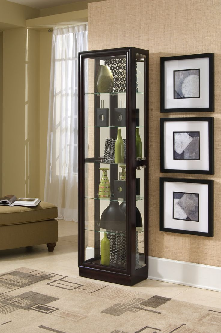 Madison Dark Brown Curio Rh 21000 Curio Cabinets