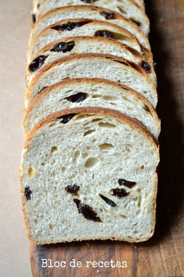 Bloc de recetas: Pan de molde de espelta y leche de avena con pasas