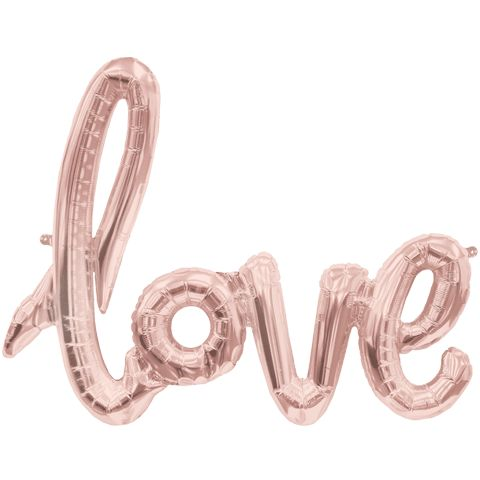 This fabulous new rose gold LOVE script balloon is perfect for celebrating a special occasion - bridal shower, wedding, baby shower & more! Simply blow up and hang, no helium required! This balloon is                                                                                                                                                                                 More