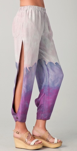 Hippie slit pants